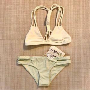 Citrine top and Lspace bottom bikini set